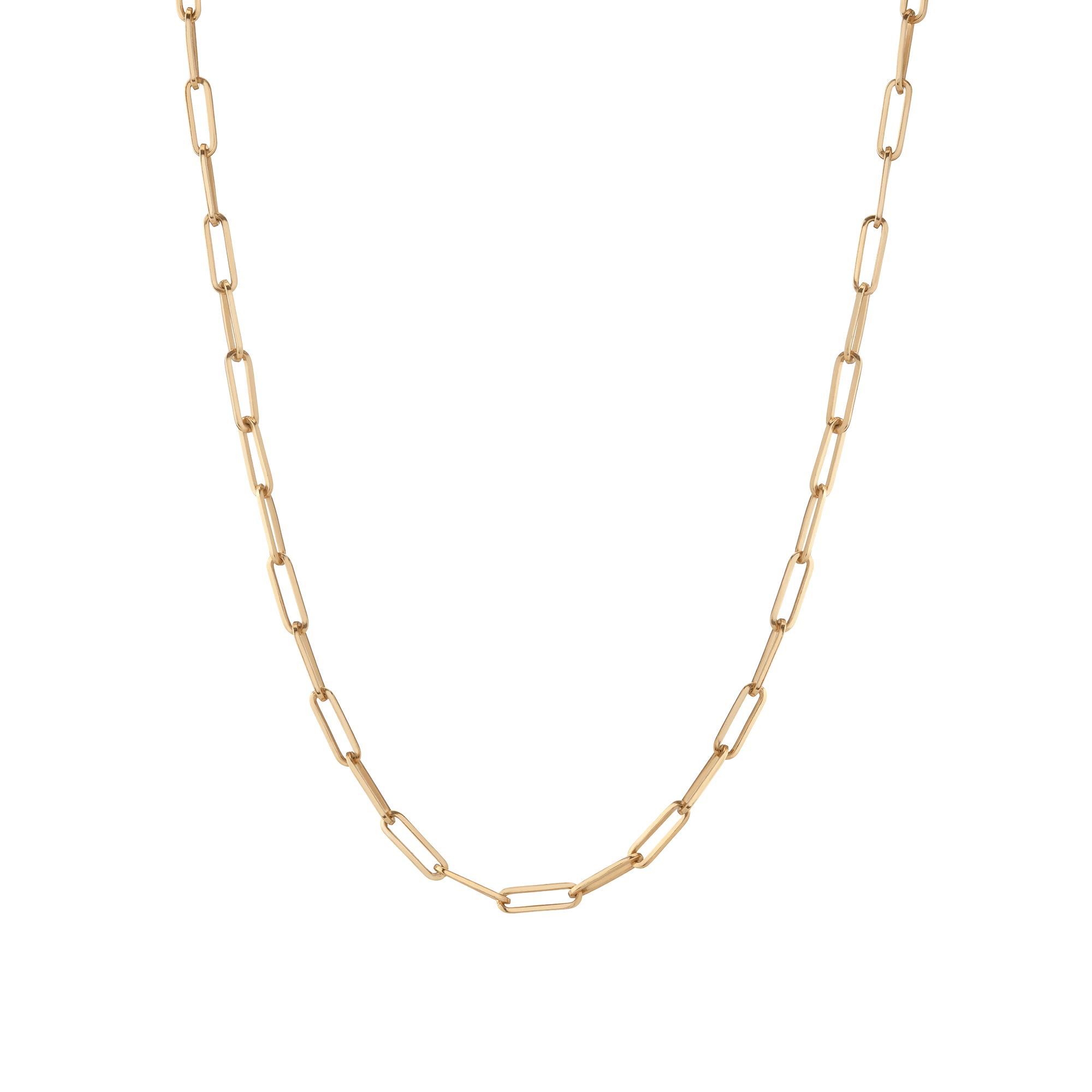 Large Chain Necklace in Yellow, Rose or White Gold