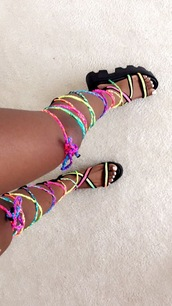 shoes,gladiators,black,spring break,flip-flops,spring,white,jesus sandals,adorable outfit,colorful platform heels,sandals,thigh high laced up sandals,rainbow,summer,cute,trendy,high heel sandals,summer shoes,fashion,platform shoes,lace up,platform sandals,shoes black wedges,where to get these,chunky sandals,multicolor,wedge sandals,strappy sandals