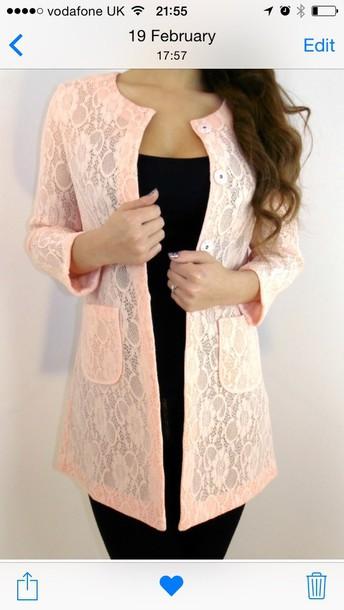 jacket peach jacket