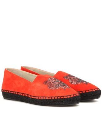 espadrilles suede orange shoes