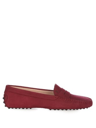loafers suede dark dark red red shoes