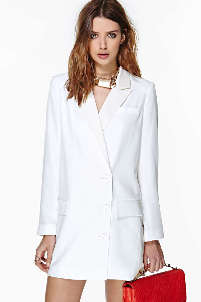 Pencey Valedictorian Blazer Dress at Nasty Gal
