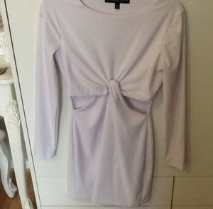 Topshop White Bodycon Dress with Twist Front and Cut Out Detail Size 10 Petite | eBay
