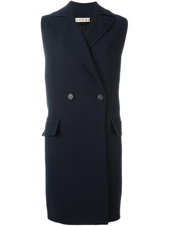 jacket sleeveless blue