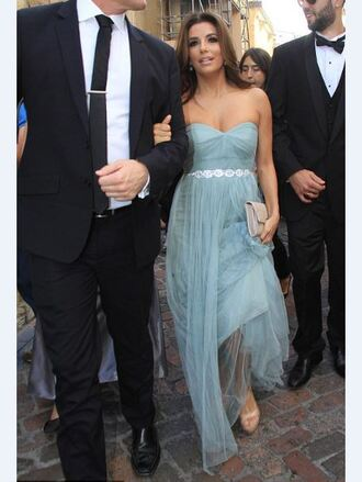 dress gown strapless sandals prom dress eva longoria