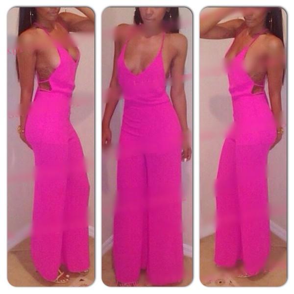 jumpsuit pink dress summer dress