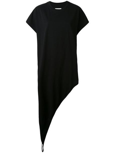 Mm6 Maison Margiela dress women layered cotton black