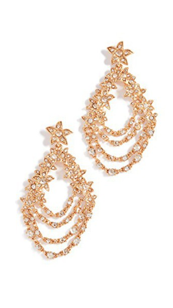 oscar de la renta earrings gold jewels