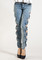 Side bow cutout jeans