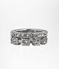 STACKABLE SQUARE RHINESTONE RING SET | Express
