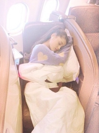 sweater grey sweater beige heart ariana grande shirt pajamas purple blue sleep heart sweater celebrity style