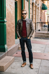 stay classic,blogger,sunglasses,belt,mens jacket,mens sweater,jacket,sweater,shirt,shoes,jeans,jewels,mens leather jacket,straight jeans,mens derby shoes