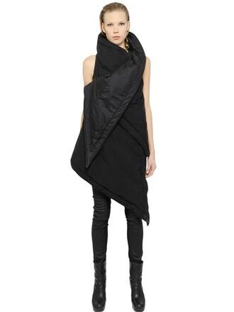 vest asymmetrical black jacket