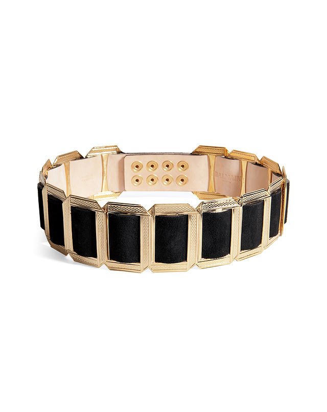 Leather/Metal Belt in Black from BALMAIN | Luxury fashion online | STYLEBOP.com