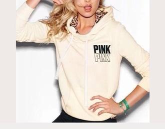 sweat jacket sweatshirt vs leopard print print cream heavy t-shirt lovely victoria's secret victoria's secret model candace model robe silky blonde hair pink by victorias secret rachel hilbert