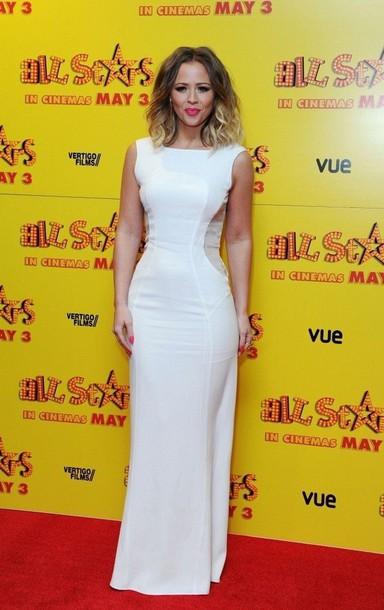 dress white panel floor length dress white dress panel dress prom dress high neck halter neck