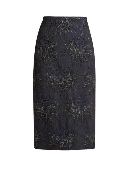 Rochas skirt pencil skirt floral navy