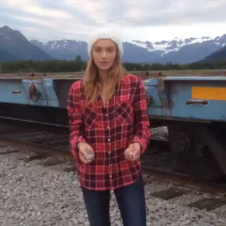 flannel cailin russo burgundy red shirt checkered