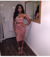 skirt,nude,pink,leather,faux leather,midi skirt,high waisted