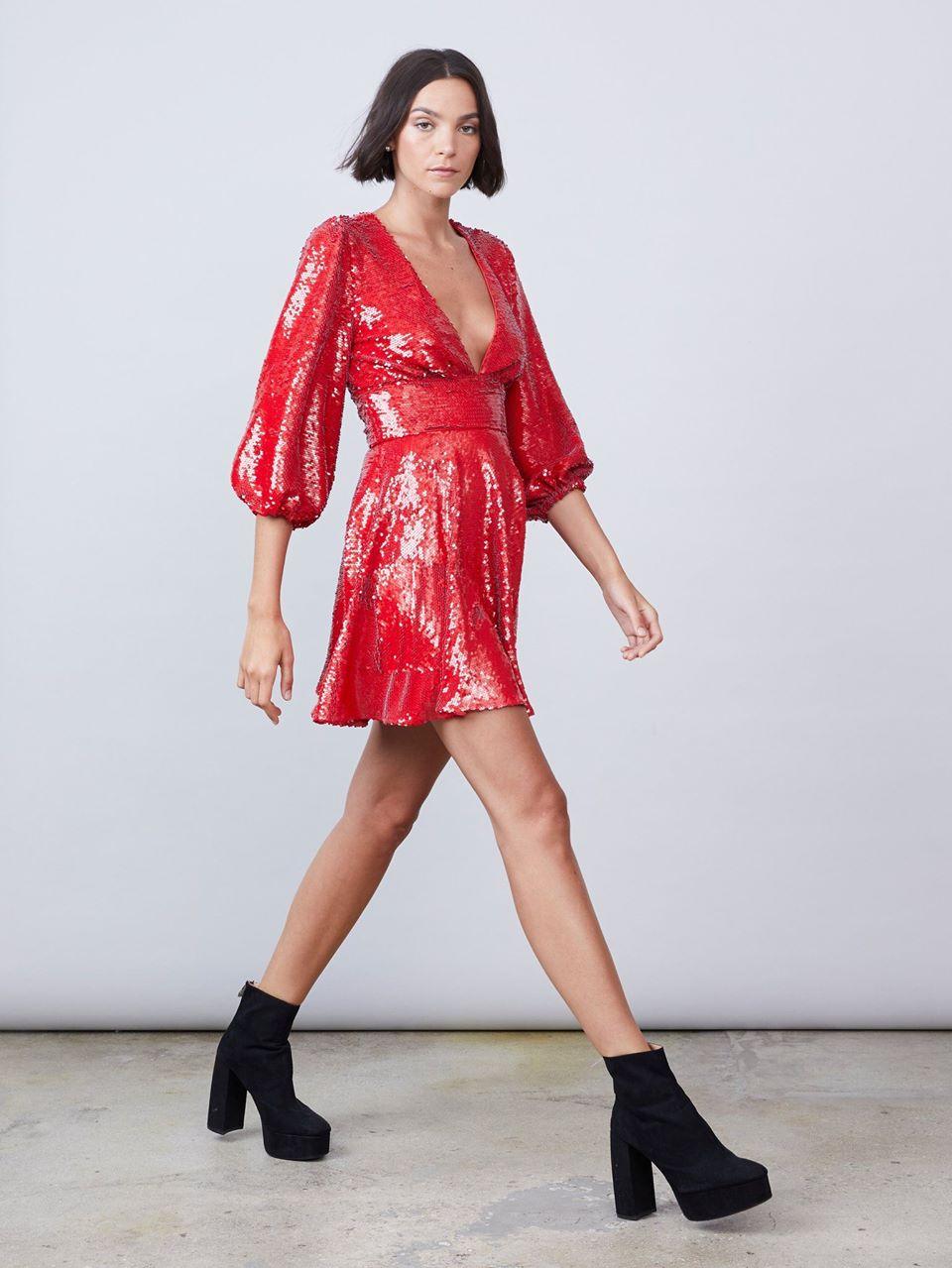 Lia Deep-V Dress