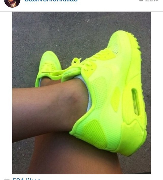 Shoes: air max, nike, neon shoes, green, sneakers, spring ...