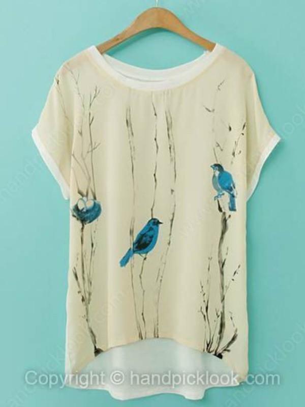 chiffon t-shirt top t-shirt