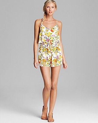 MINKPINK Wild Arrangement Playsuit Swim Cover Up Romper | Bloomingdale's