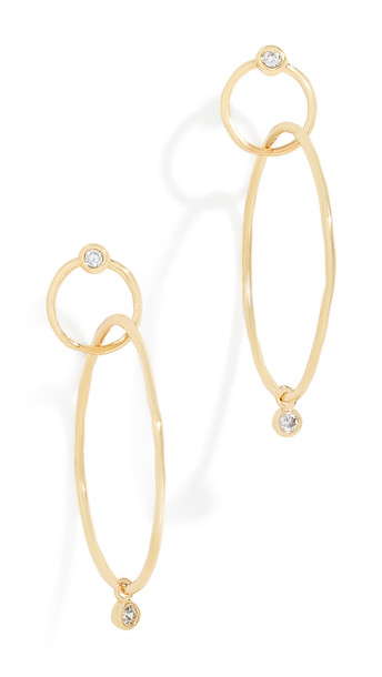 earrings hoop earrings gold yellow jewels