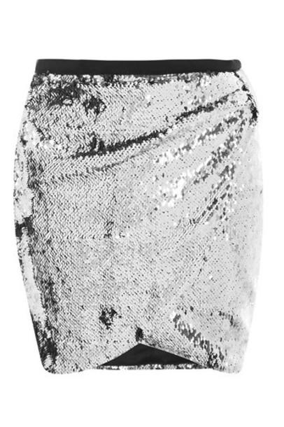 Topshop skirt mini skirt mini silver