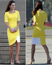 dress,yellow dress,kate middleton,cocktail dress