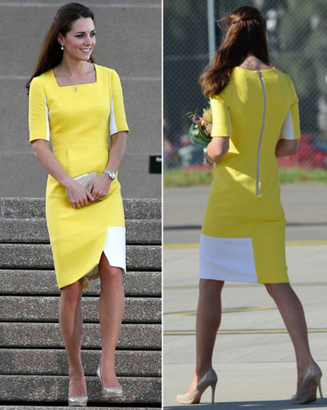 dress kate middleton yellow dress