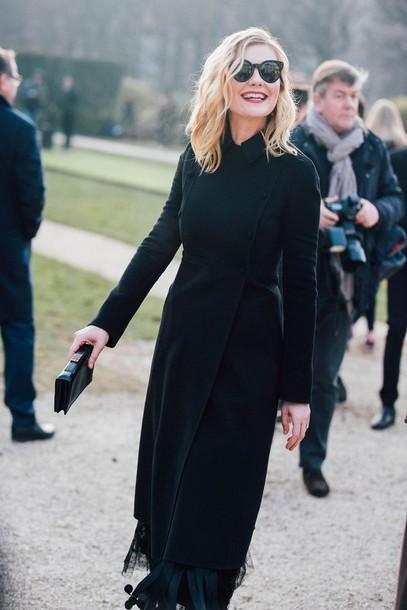Coat: tumblr, kirsten dunst, celebrity style, celebrity ...