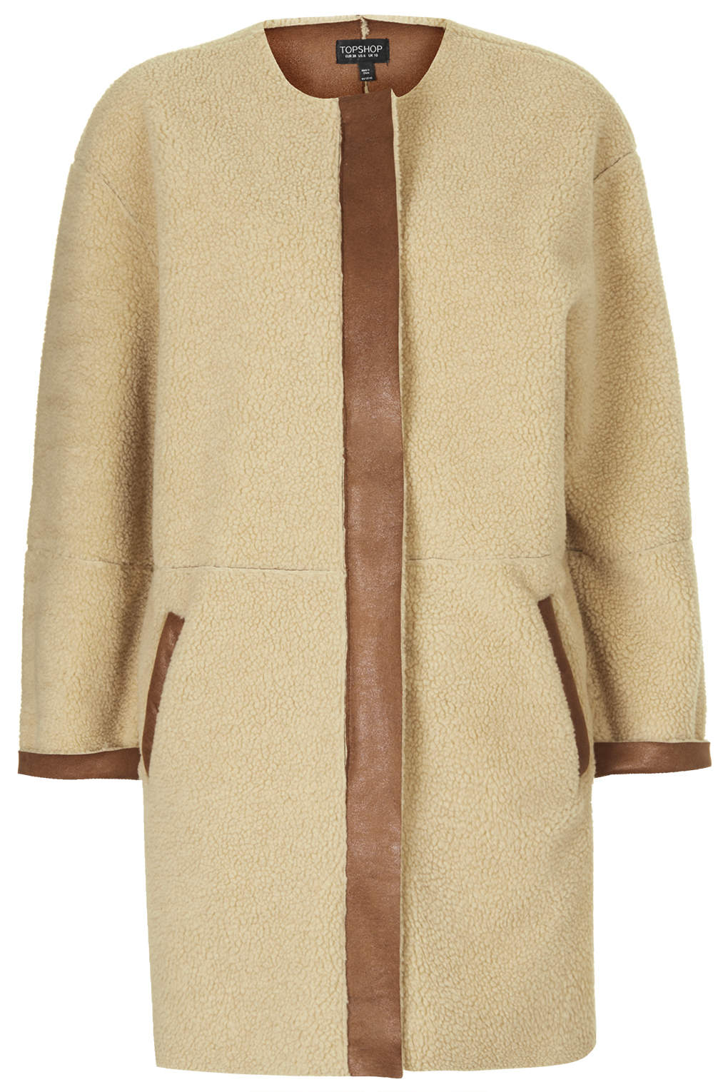 Shearling Ovoid Jacket - Jackets &amp Coats - Clothing