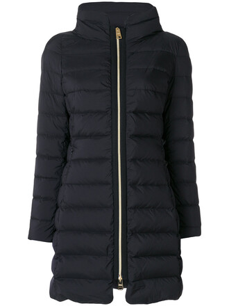 coat zip women cotton black