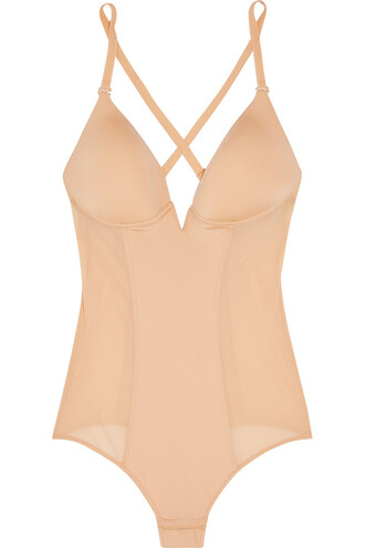 bodysuit mesh bodysuit mesh satin neutral underwear