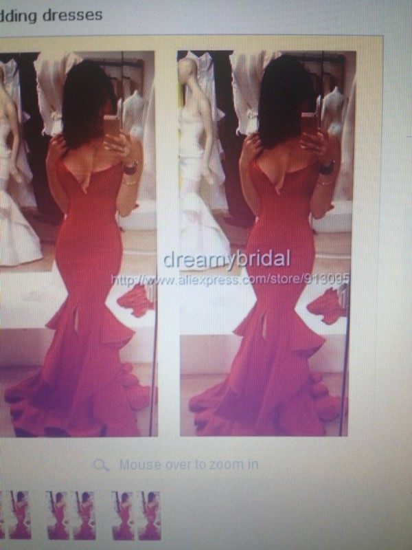 dreamybridal red dress