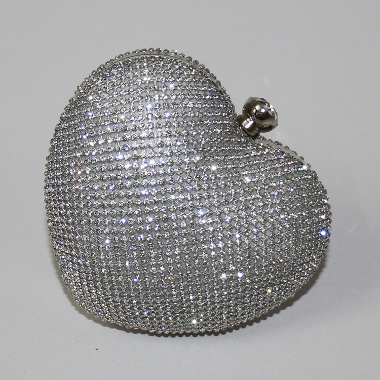 Quality rhinestone heart shaped clutch purse, fashion women's crystal clutch bag handbag,  bridal wedding bag clutches-inClutches from Luggage & Bags on Aliexpress.com