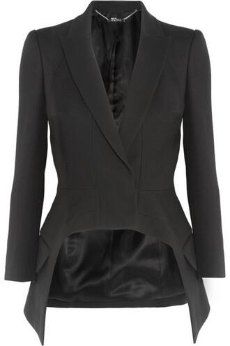 blazer black silk wool jacket