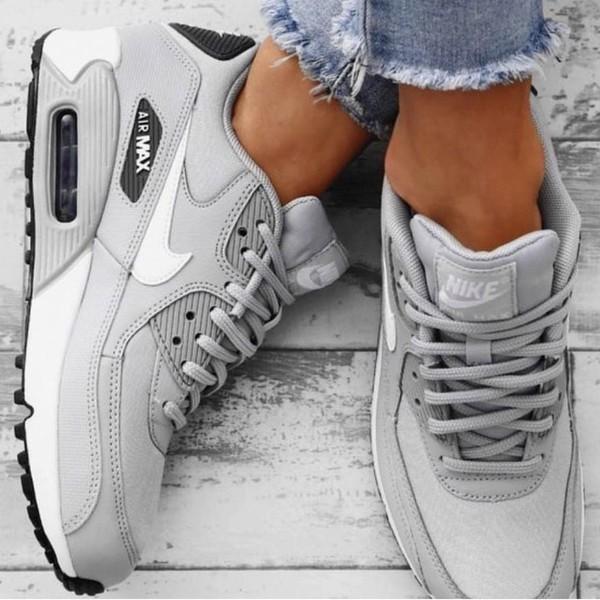 shoes grey nike air max nike air max 90
