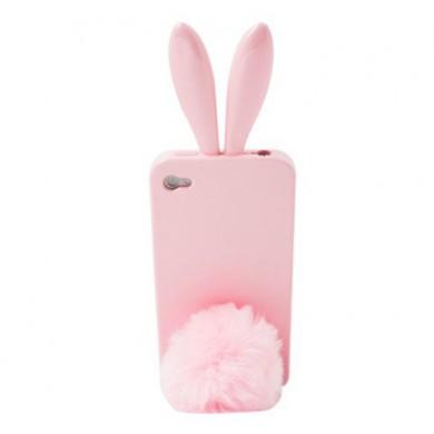 Coque iphone 4 rabito baby pink