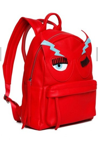 bag red bag backpack red backpack novelty bag