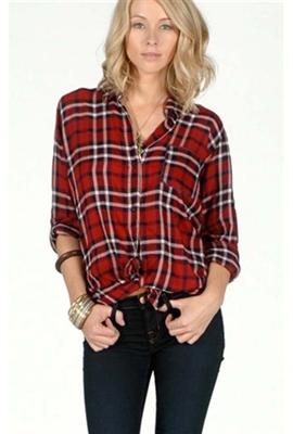 Rails dana button down red plaid shirt