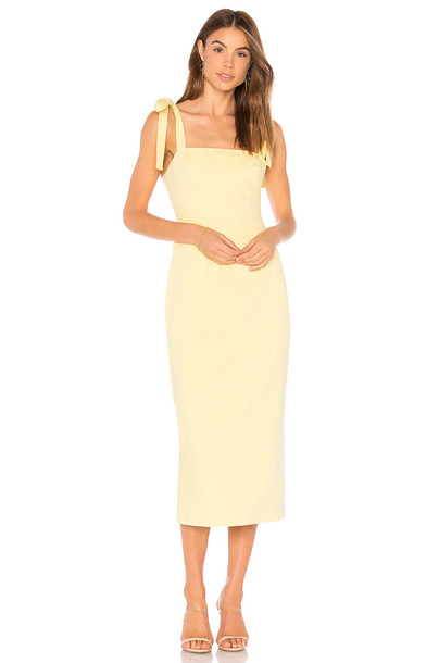86e42464 Capulet Camille Midi Dress in yellow - Wheretoget