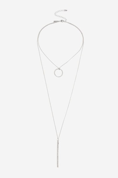 Topshop layered necklace clear layered necklace jewels