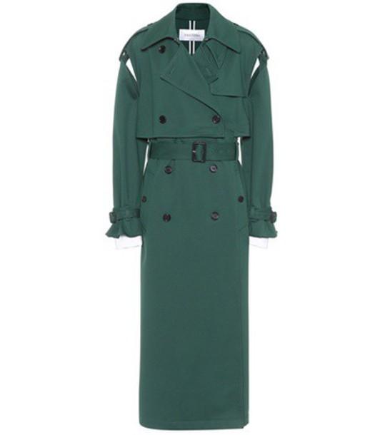 Valentino coat trench coat green