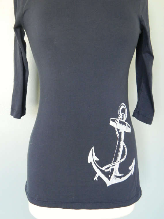 Anchor screenprinted tee by digiacomo on etsy