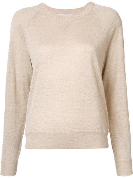 Elizabeth and James blouse knit metallic women wool grey top