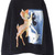 Black Deer Print Crew Neck Long Sleeve Sweatshirt | Pariscoming