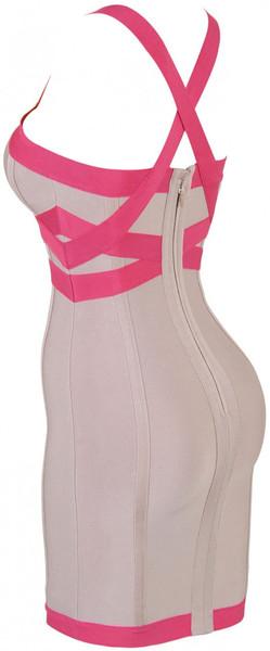 Pink Cross Over Bandage Dress – Starr Boutique