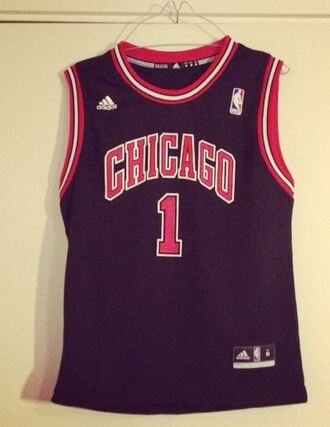 blouse number 1 jersey adidas black red white nba chicago bulls